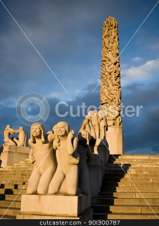 Vigeland Park - Oslo stock photo, The vigeland sculpture park in Oslo, Norway by Tyler Olson