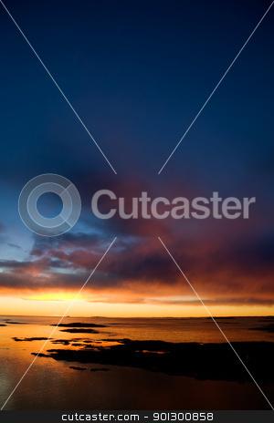 Ocean Sunset stock photo, Beautiful coastal Landsacpe on the very outside of the Oslo Fjord near Fredrikstad, Norway. by Tyler Olson