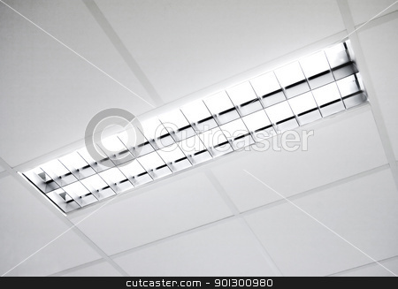 fluorescent light fixture stock photo, A fluorescent light set in the roof by Tyler Olson