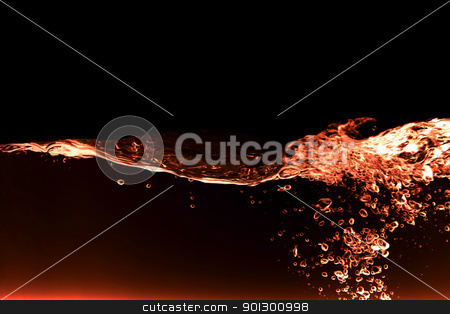 red water abstract stock photo, A red fire water background abstract by Tyler Olson