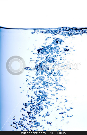 Water Bubbles stock photo, Water bubbles floating to the surface by Tyler Olson