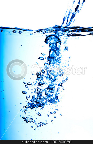 Bubbles and Water stock photo, A background of water pouring and making bubbles by Tyler Olson