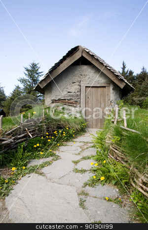 Small Cabin stock photo, A small hermit cottage like building by Tyler Olson