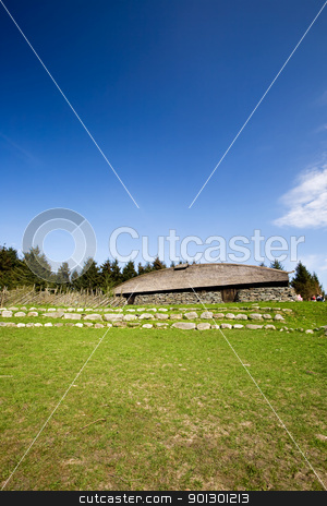 Viking Longhouse stock photo, A viking long house on a historic farm by Tyler Olson