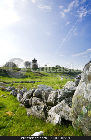 Stone Wall stock photo, A very old stone wall in rural Norway by Tyler Olson