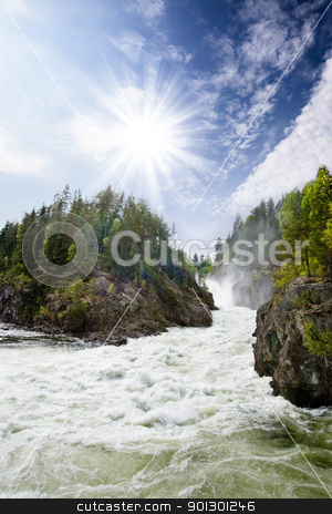 White Water Rapids stock photo, A nature landscape of river rapids in Norway by Tyler Olson