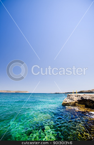 Malta Ocean stock photo, A swimming hole in Malta by Tyler Olson