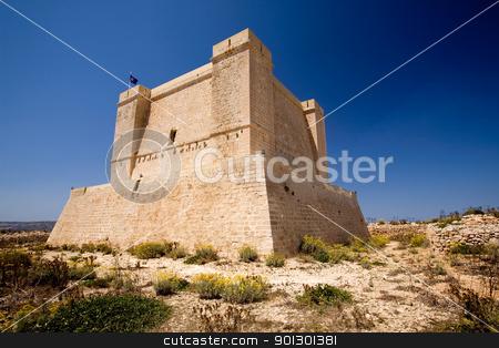 Saint Marija's Tower stock photo, St marija tower on comino island, Malta by Tyler Olson