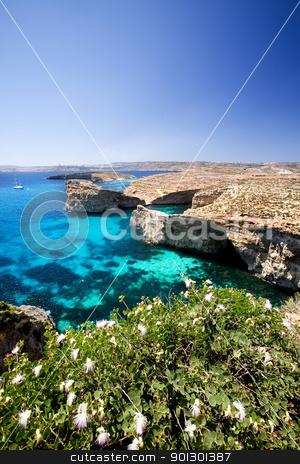 Malta Landscape stock photo, Landsacpe of Comino and Gozo islands by Tyler Olson