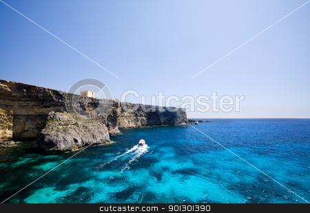 Comino Coast stock photo, Coast of Comino island by Tyler Olson