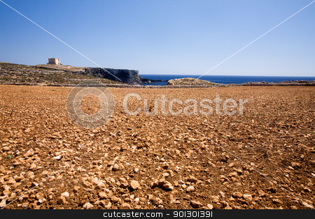 Comino Landscape stock photo, Landscape on the island of Comino by Tyler Olson
