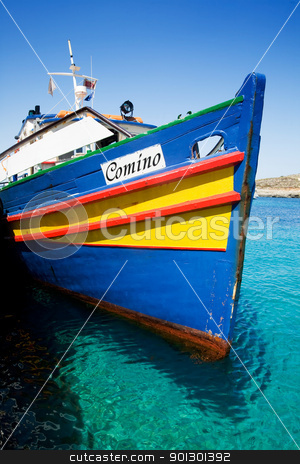 Comino Island Boat stock photo, A boat on the island of Comino by Tyler Olson