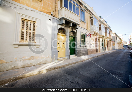 European Street stock photo, quaint street in Malta by Tyler Olson