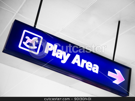 Play Area stock photo, A play area sign by Tyler Olson