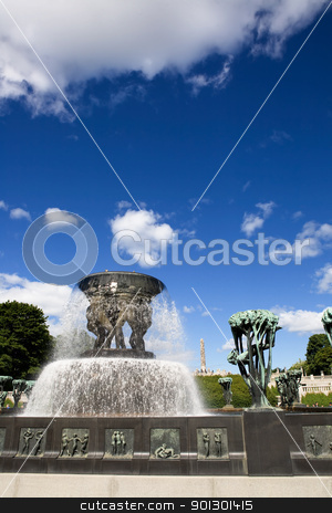 Sculpture Park Oslo stock photo, Oslo Sculpture Park on a warm summer day by Tyler Olson