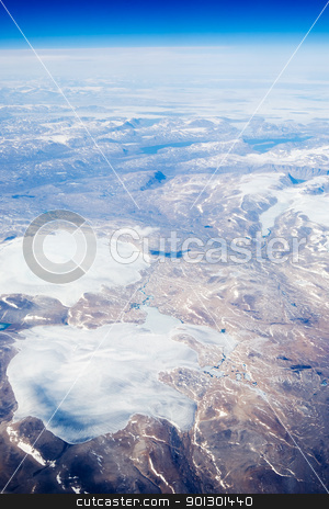 Aerial of Baffin Islands stock photo, An aerial view of the Baffin Islands in Canada by Tyler Olson