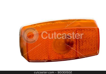 Orange Light stock photo, An orange blinker light isolated on white by Tyler Olson