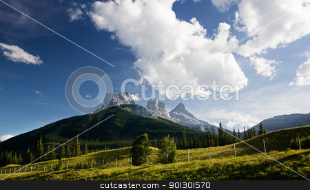 Mountain Landscape stock photo, A mountain landscape in Canada by Tyler Olson
