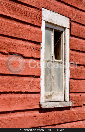 Old Barn Window stock photo, An old red barn window by Tyler Olson