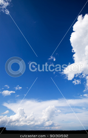 Big Sky Background stock photo, A landscape with a big sky with clouds by Tyler Olson