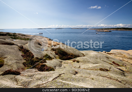 Coast of Norway stock photo, The coast of southern Norway with an ocean view by Tyler Olson