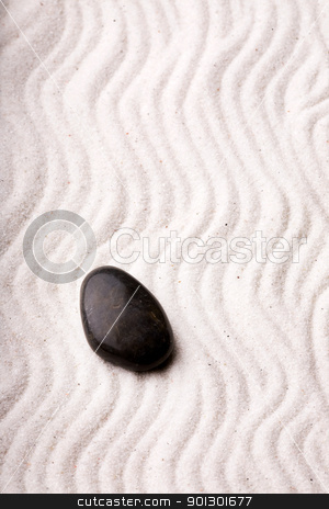 Oriental Rock Garden stock photo, An oriental rock garden background with stones and sand by Tyler Olson