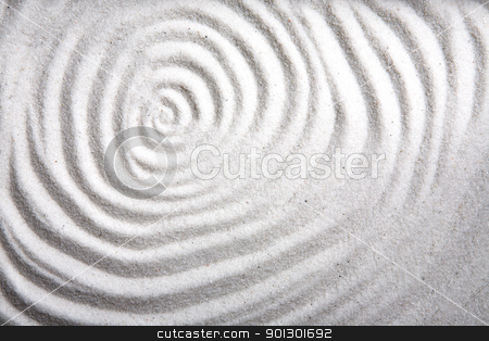 Sand Swirl stock photo, A background patter of a swirl in white sand by Tyler Olson