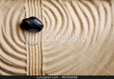 Sand Swirl Background stock photo, A circular sand swirl background texture abstract by Tyler Olson