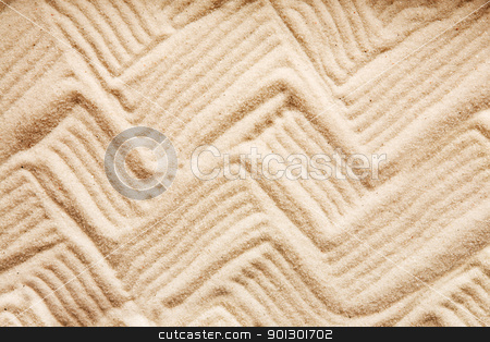 Zig Zag Sand stock photo, A zig zag background pattern in sand by Tyler Olson