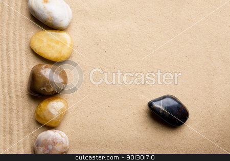 Rock Sand Background stock photo, Rocks and sand on a beach style background by Tyler Olson