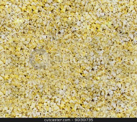 Seamless Popcorn Background stock photo, A seamless popped popcorn background by Tyler Olson