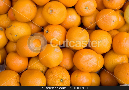 Oranges Background stock photo, A background of fresh oranges in an outdoor market by Tyler Olson