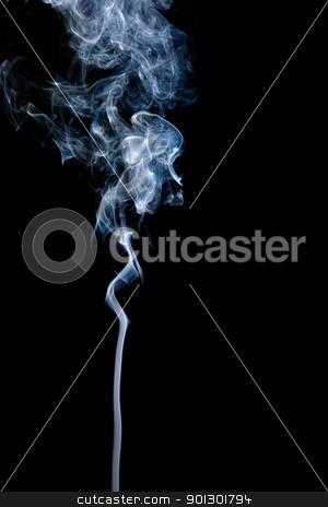 Smoke Background stock photo, A stream of smoke slowly rising by Tyler Olson