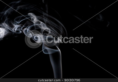 Smoke Abstract stock photo, A stream of smoke on a black background by Tyler Olson