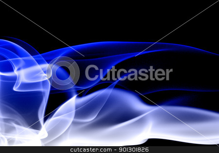 Abstract Flow stock photo, An abstract blue flow background by Tyler Olson
