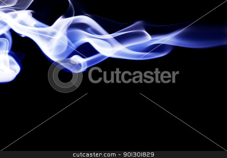 Cool Smoke Background stock photo, Blue smoke background on black by Tyler Olson