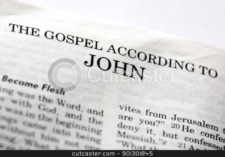 Gospel of John stock photo, The Gospel According to John in the Christian New Testament Bible by Tyler Olson