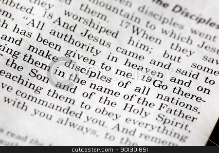 Mathew 28:19 stock photo, Mathew 28:19 - A popular passage in the Christian New Testament by Tyler Olson