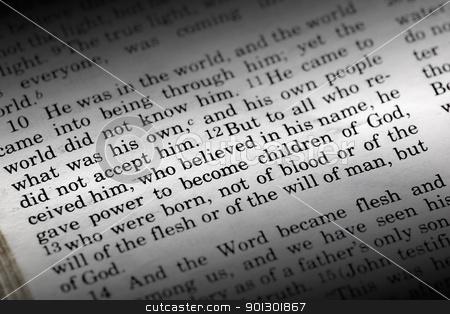 John 1:12 stock photo, Bible detail of John 1:12 , a popular New Testament passage by Tyler Olson
