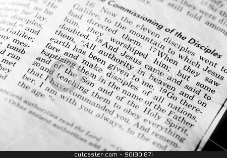 Mathew 28:18 stock photo, Mathew 28:18, a popular verse in the New Testament by Tyler Olson
