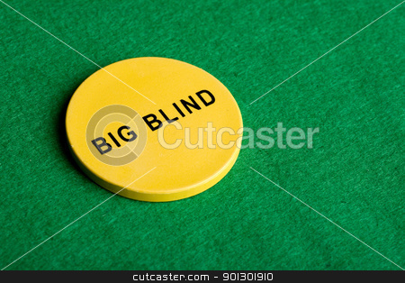 Big Blind Chip stock photo, A big blind chip for poker by Tyler Olson