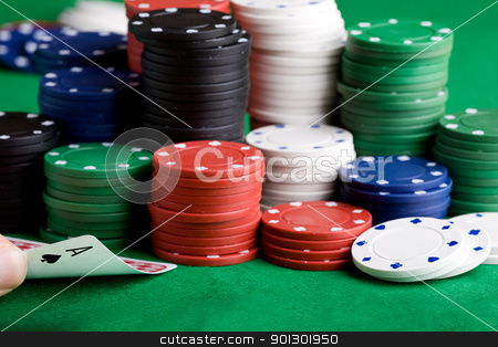 Ace stock photo, An ace of spades in a game of poker by Tyler Olson