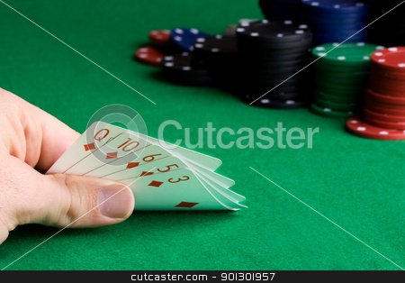 Flush stock photo, Flush - a poker hand with all of one suit by Tyler Olson