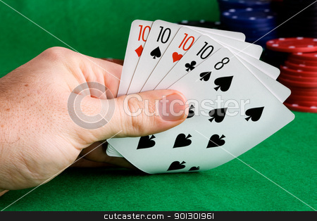 Four of a Kind stock photo, A poker hand with four of a kind by Tyler Olson