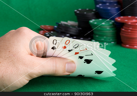 Full House stock photo, A poker hand with a full house by Tyler Olson