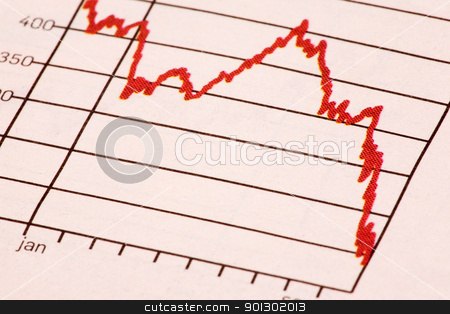 Stock Market Trend stock photo, A downward stock market trend by Tyler Olson