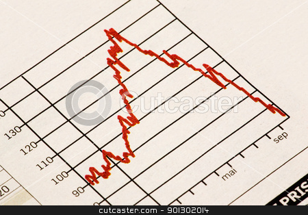 Financial Depression stock photo, A downward stock market trend by Tyler Olson