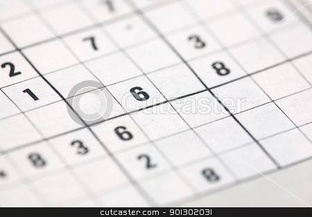Sudoku background stock photo, A sudoku background abstract from a newspaper by Tyler Olson