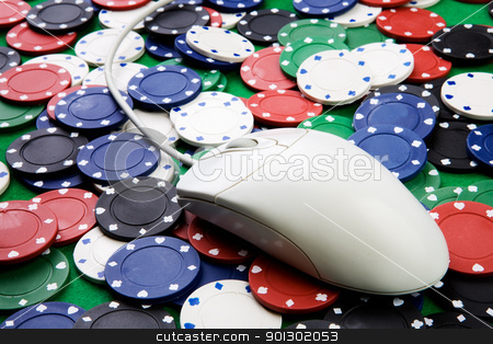 Online Gambling stock photo, Online gaming and gambling concept by Tyler Olson