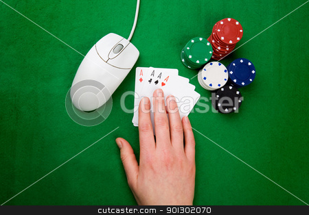 Online Poker stock photo, An onling gaming concept by Tyler Olson